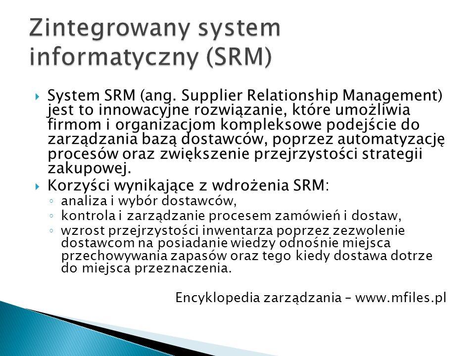 Zintegrowany system informatyczny (SRM)