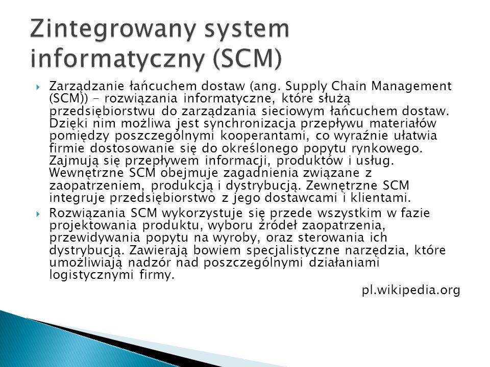 Zintegrowany system informatyczny (SCM)