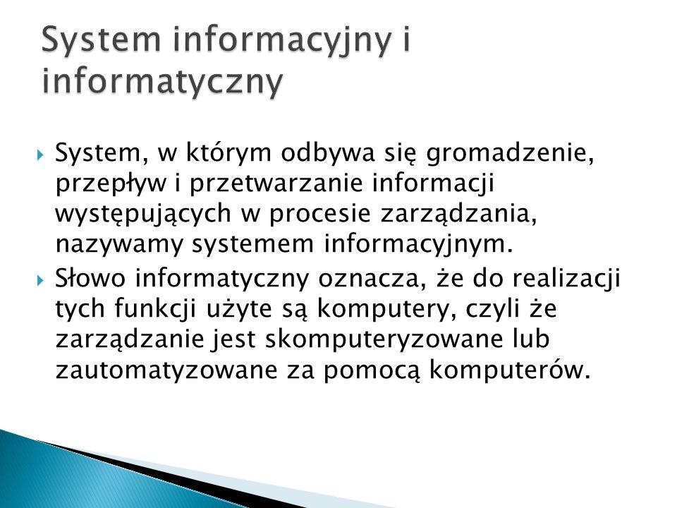 System informacyjny i informatyczny