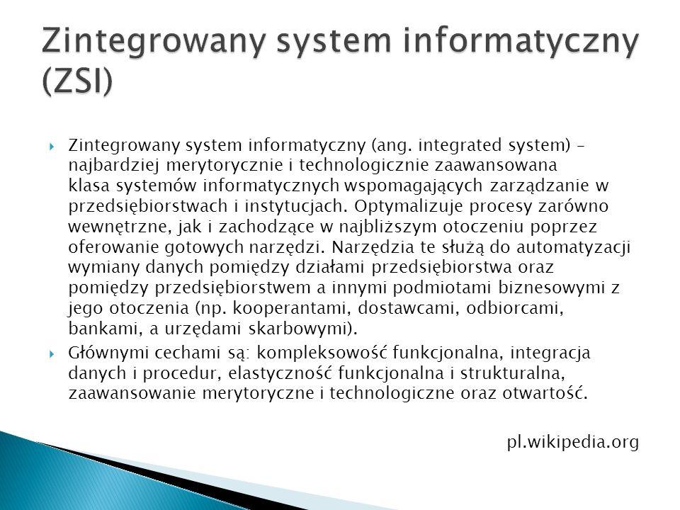 Zintegrowany system informatyczny (ZSI)