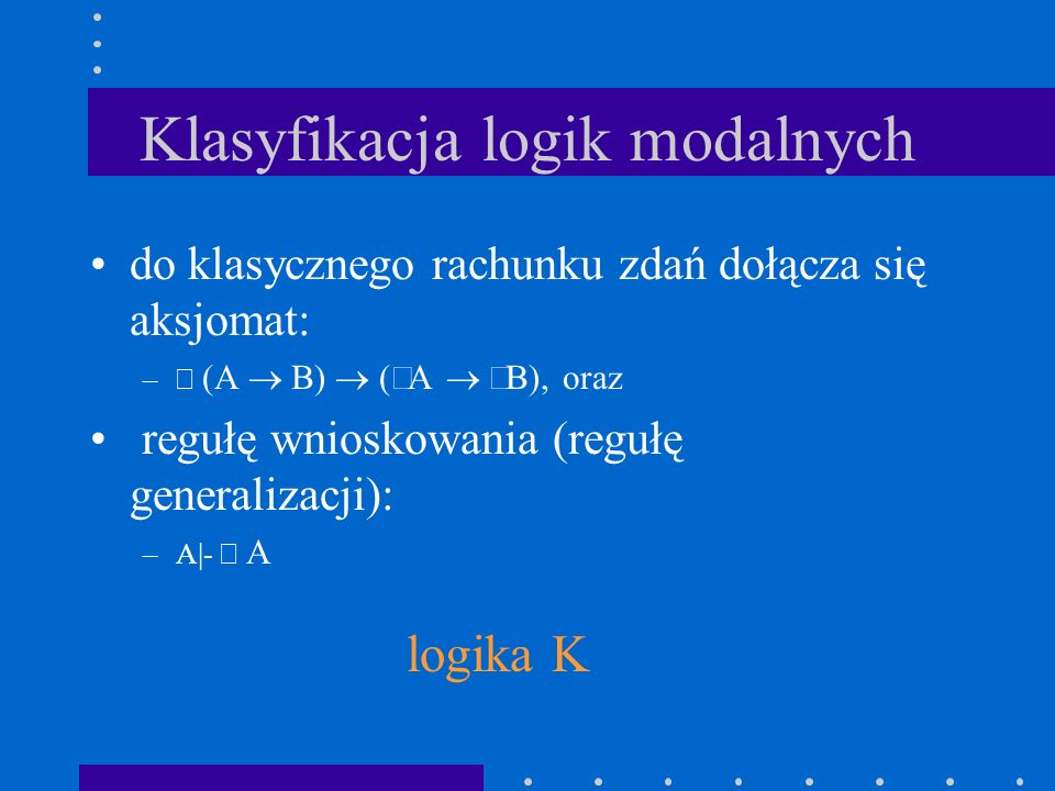 Klasyfikacja logik modalnych