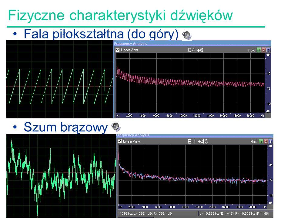 Fizyczne charakterystyki dźwięków