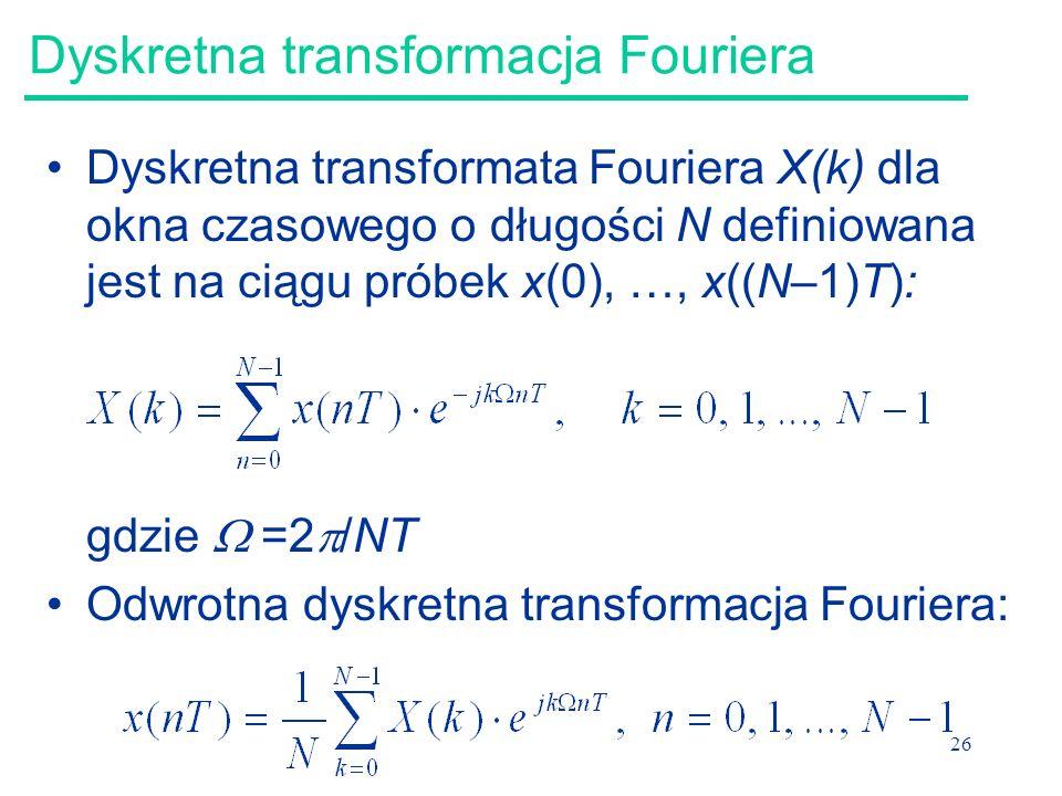 Dyskretna transformacja Fouriera