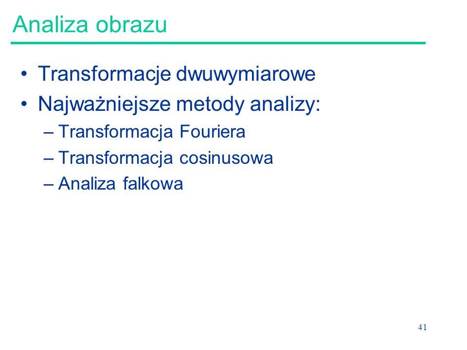 Analiza obrazu Transformacje dwuwymiarowe