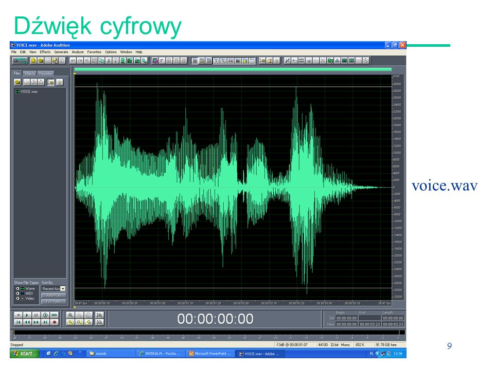 Dźwięk cyfrowy voice.wav