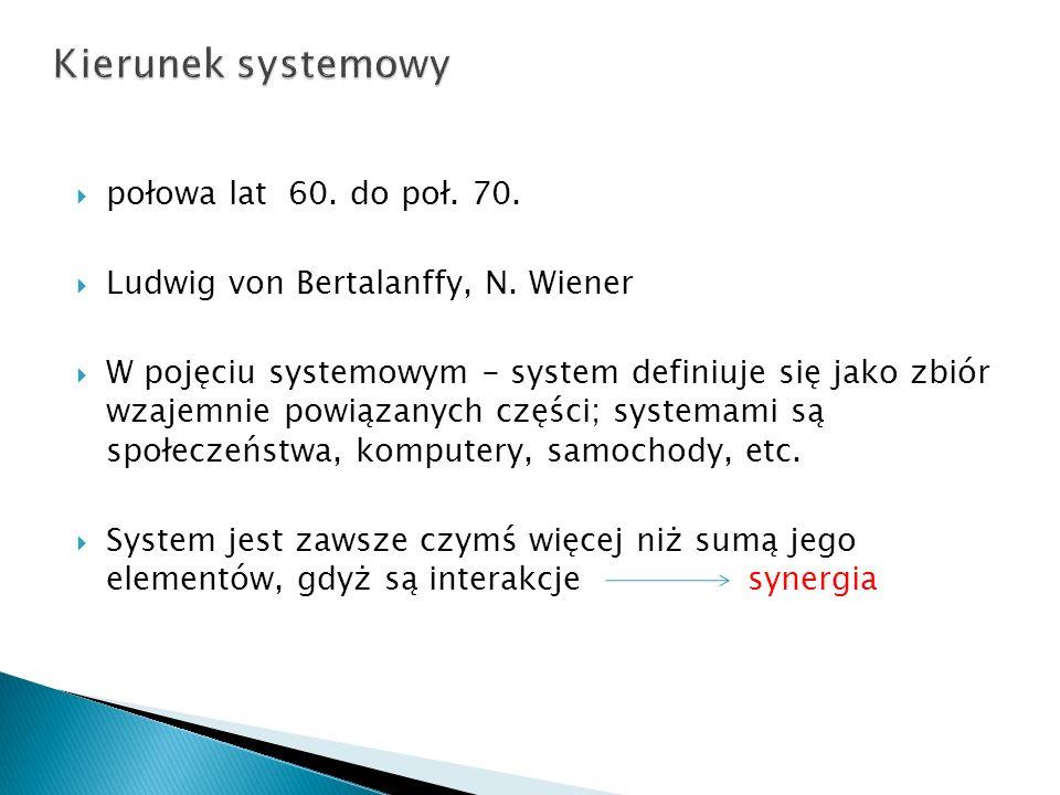 Kierunek systemowy połowa lat 60. do poł. 70.