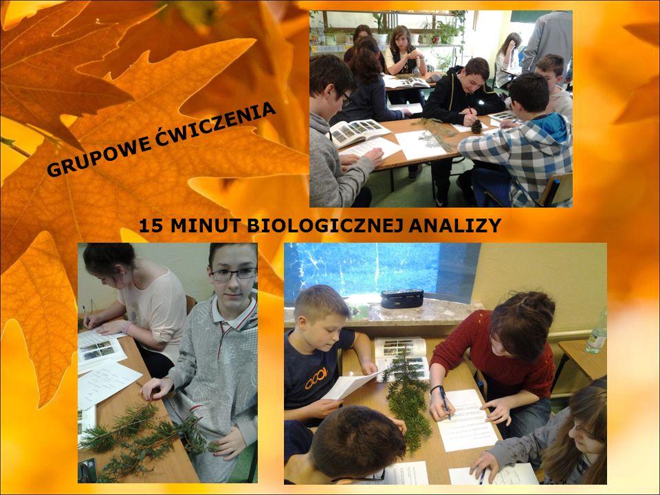 15 MINUT BIOLOGICZNEJ ANALIZY