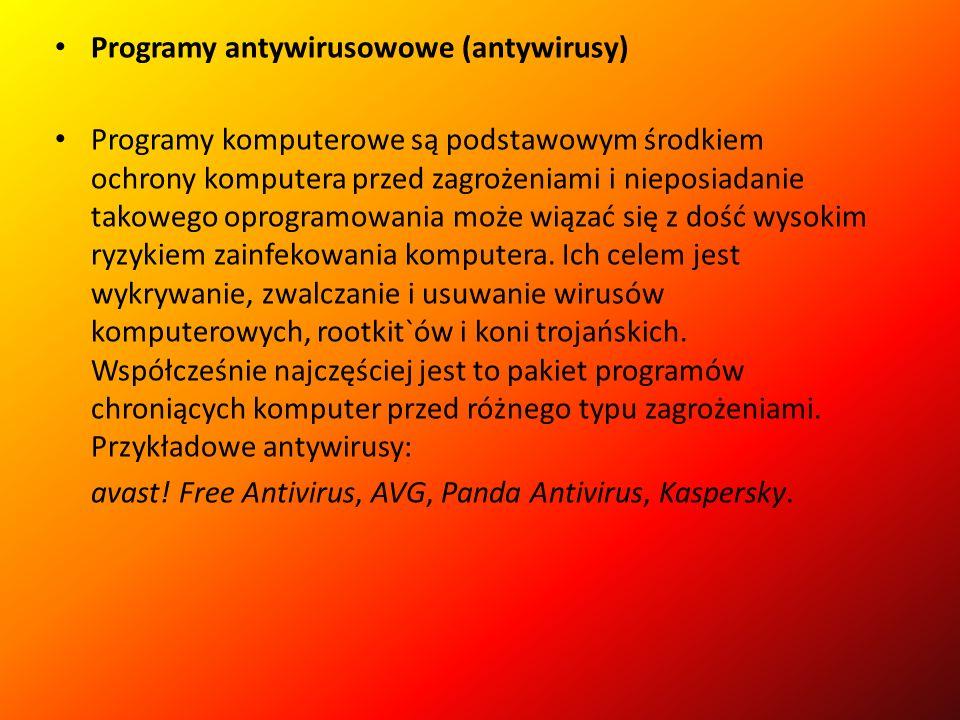 Programy antywirusowowe (antywirusy)