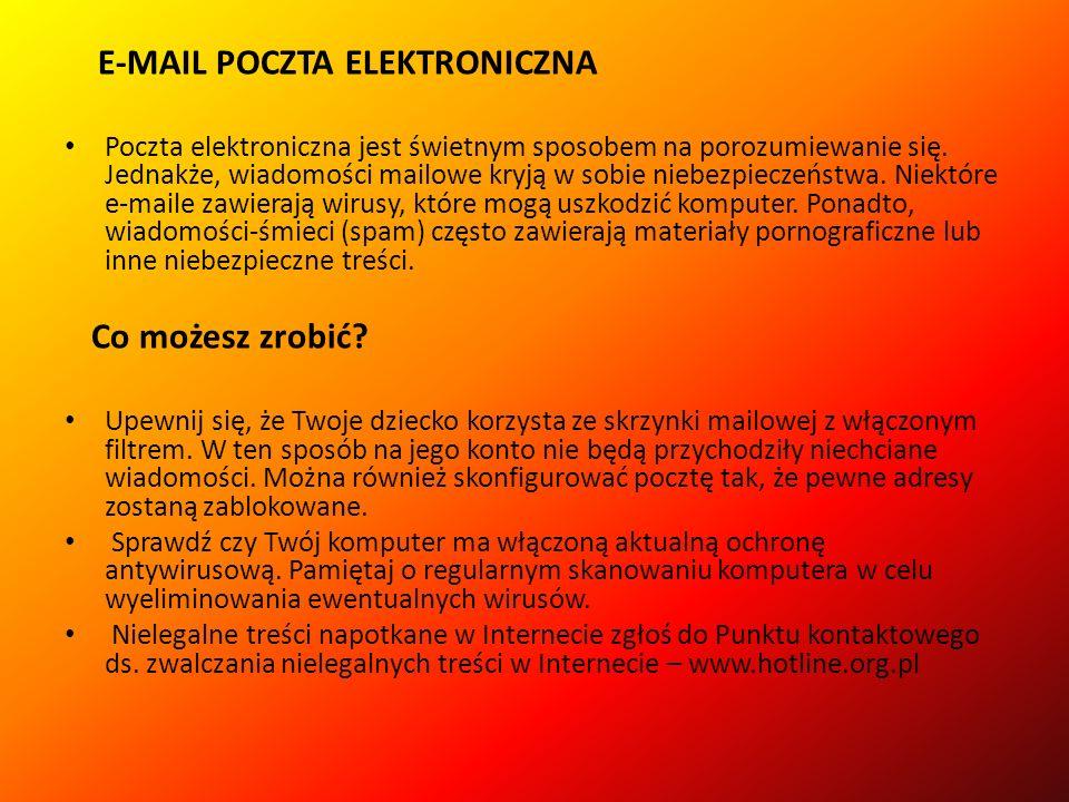 E-MAIL POCZTA ELEKTRONICZNA