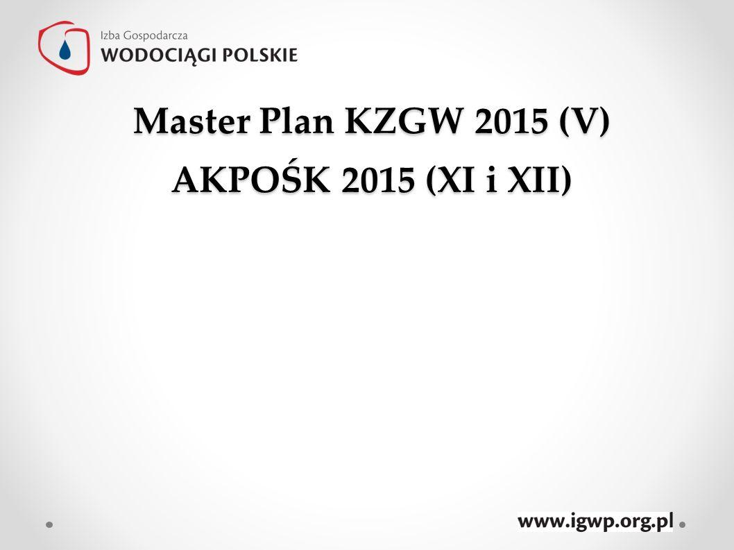 Master Plan KZGW 2015 (V) AKPOŚK 2015 (XI i XII)