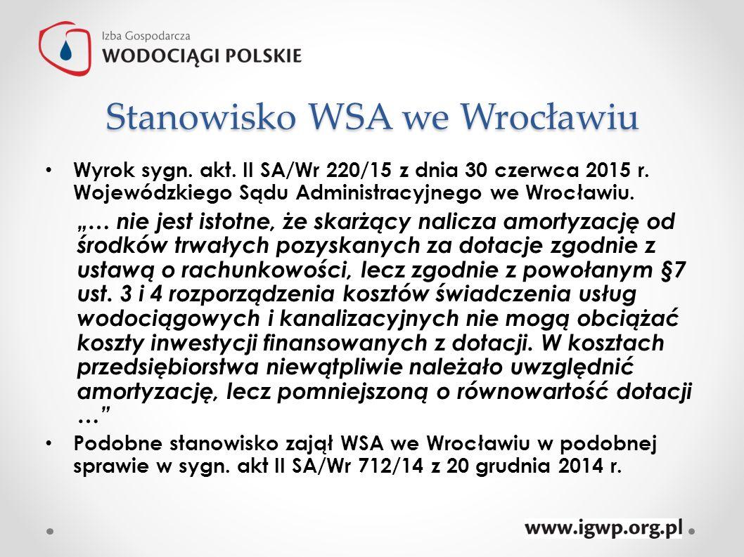 Stanowisko WSA we Wrocławiu