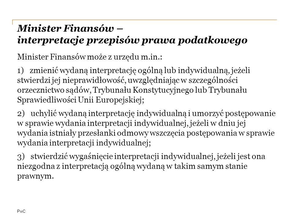 Minister Finansów – interpretacje przepisów prawa podatkowego