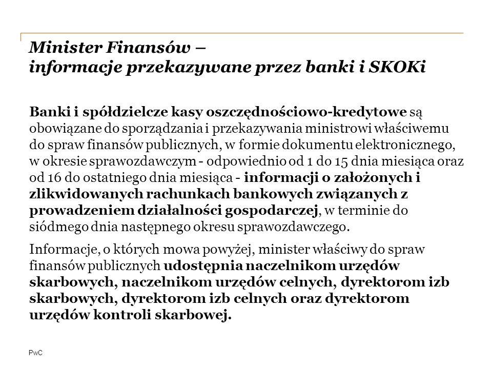 Minister Finansów – informacje przekazywane przez banki i SKOKi