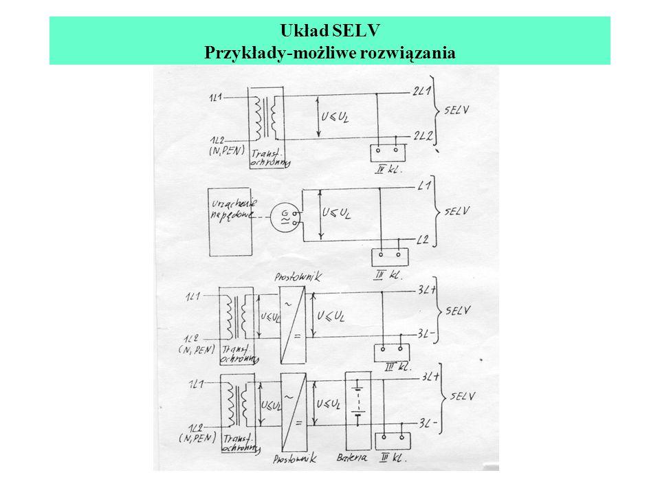 Układ SELV Przykłady-możliwe rozwiązania