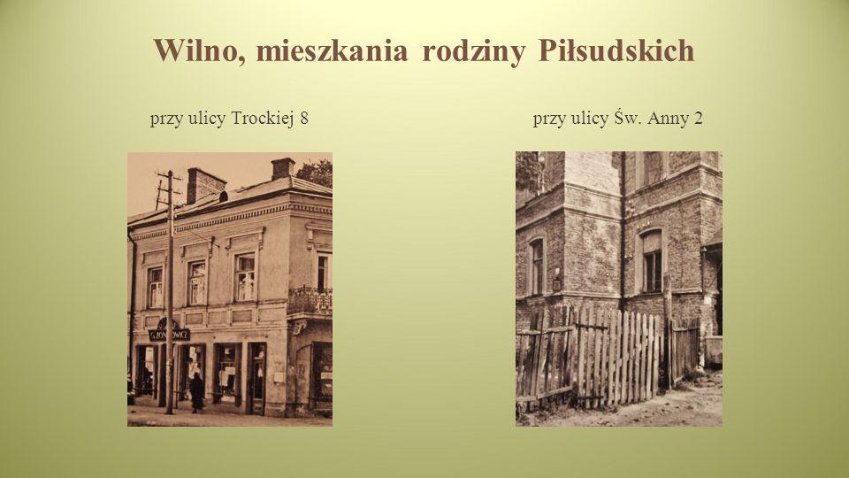 Wilno, mieszkania rodziny Piłsudskich