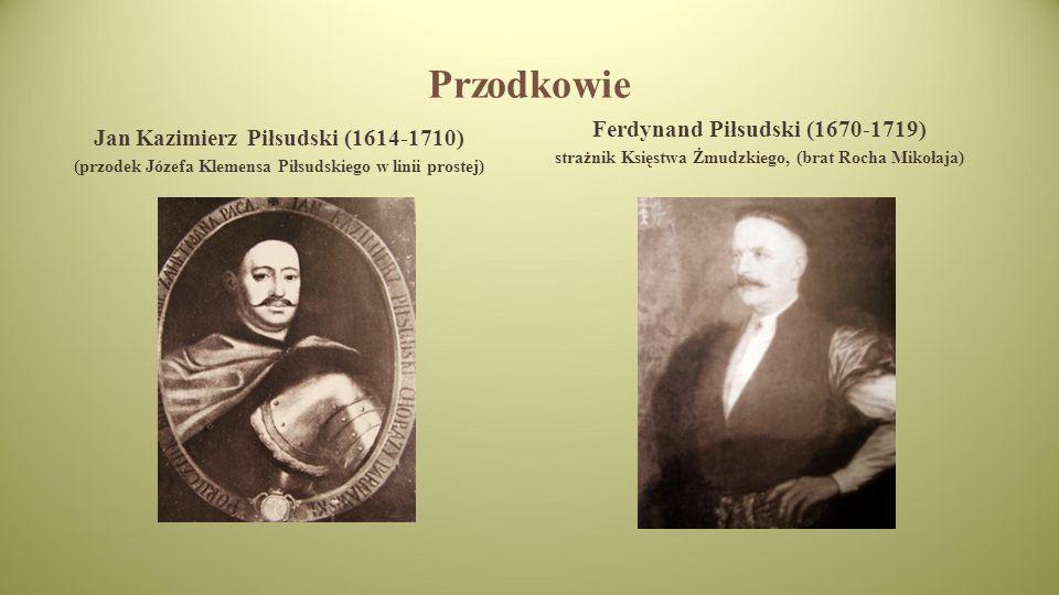 Przodkowie Ferdynand Piłsudski (1670-1719)