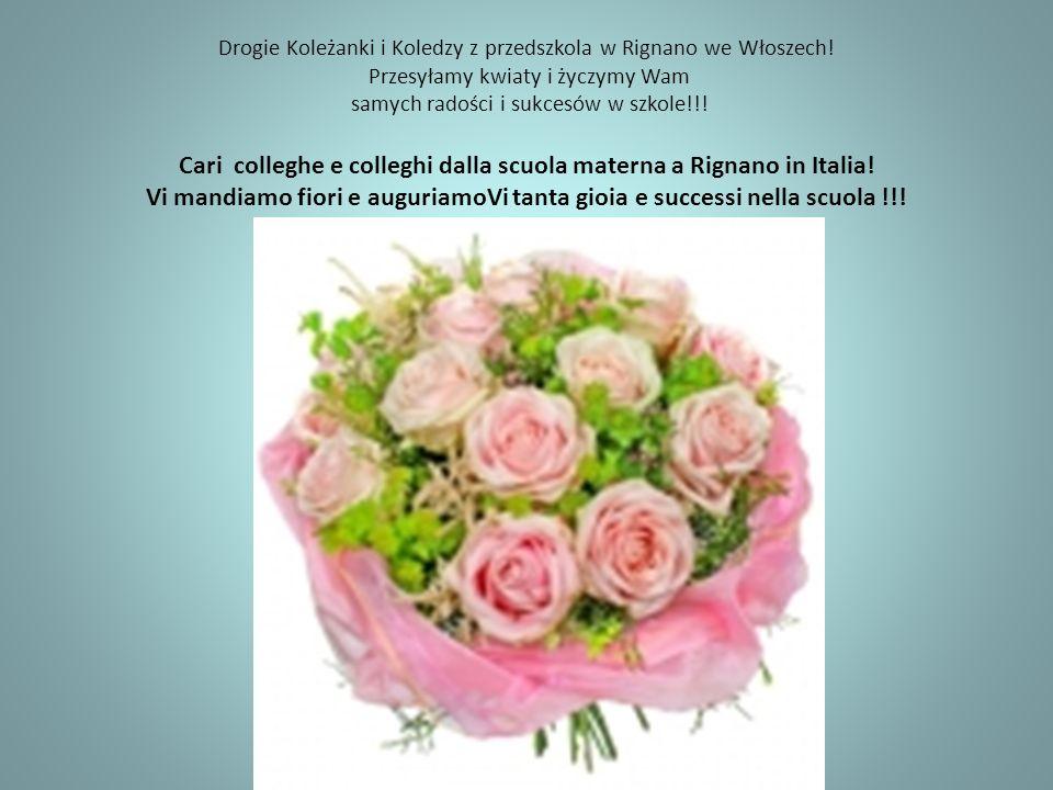 Drogie Koleżanki i Koledzy z przedszkola w Rignano we Włoszech