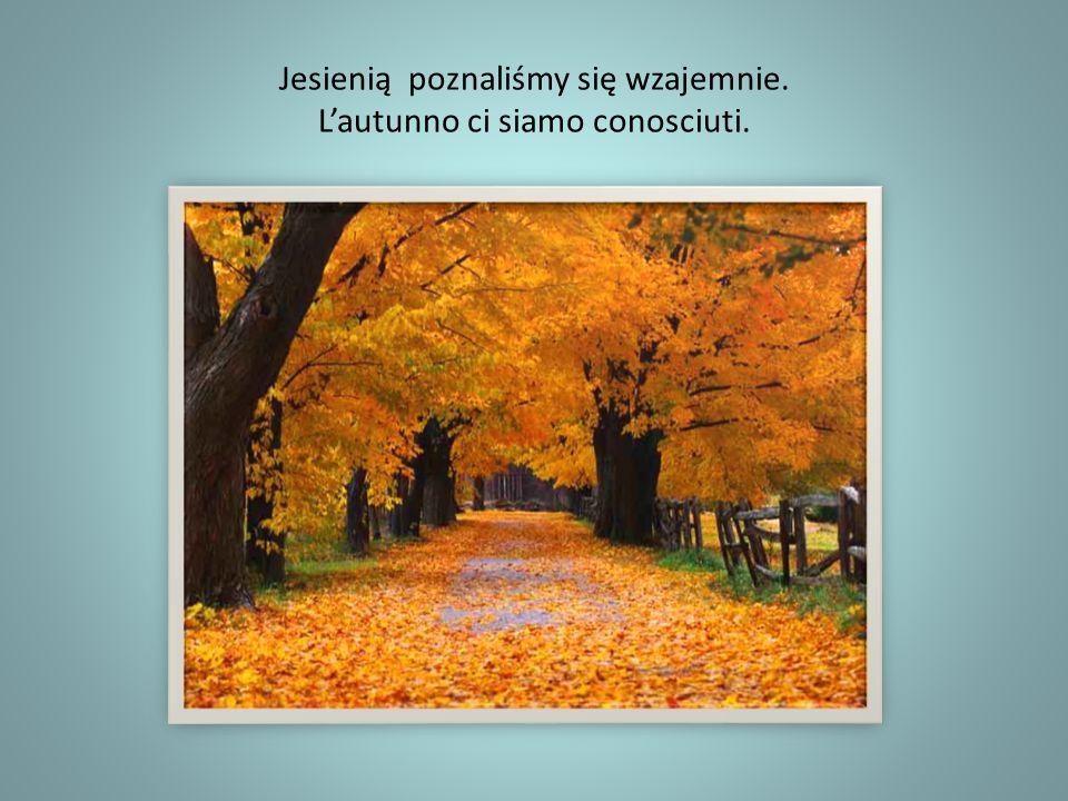 Jesienią poznaliśmy się wzajemnie. L'autunno ci siamo conosciuti.