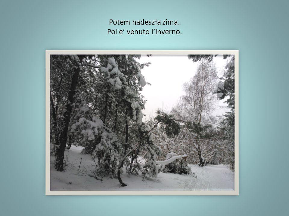 Potem nadeszła zima. Poi e' venuto l'inverno.