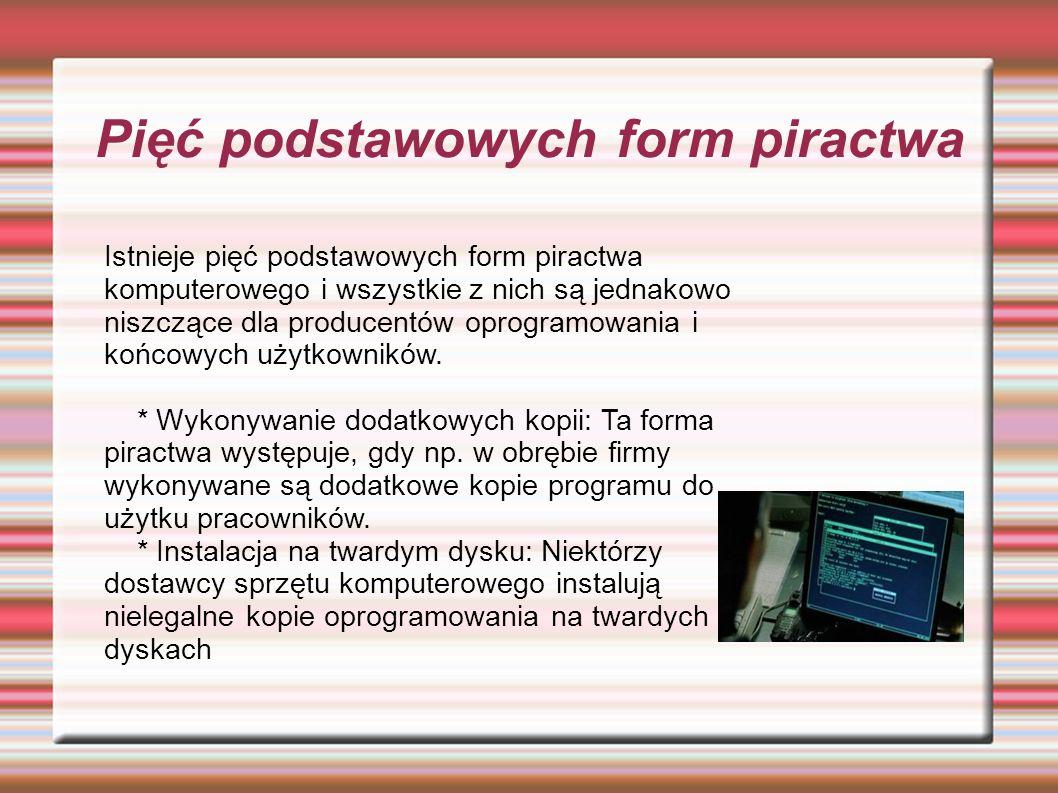 Pięć podstawowych form piractwa