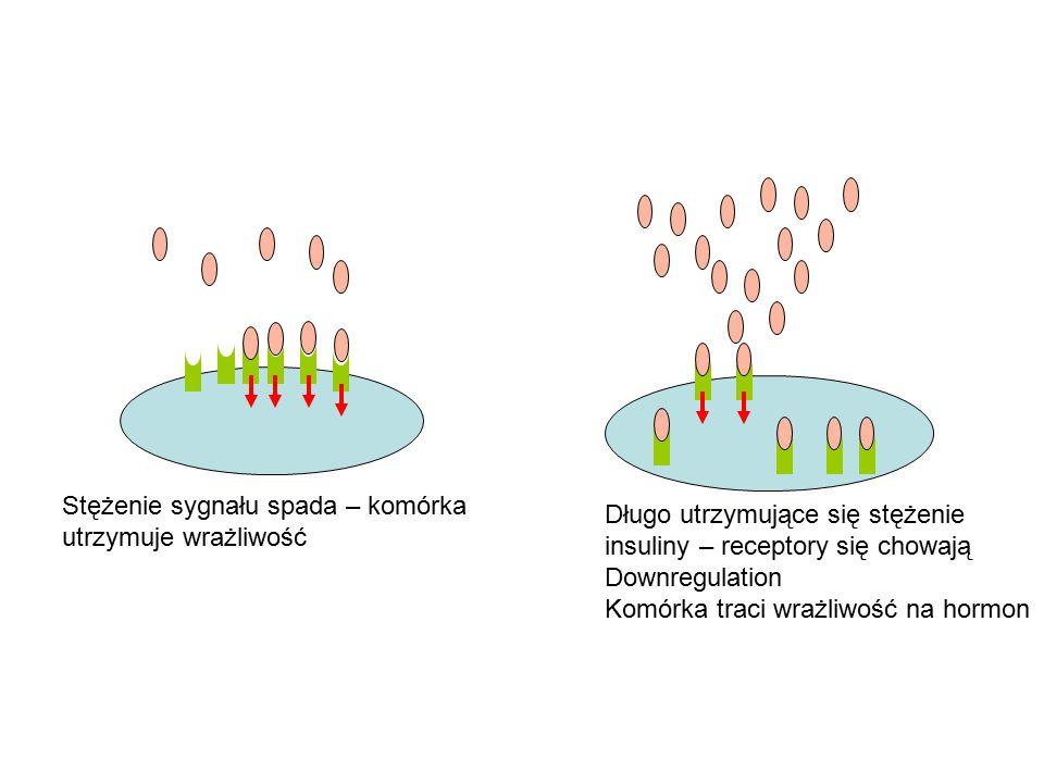 Stężenie sygnału spada – komórka