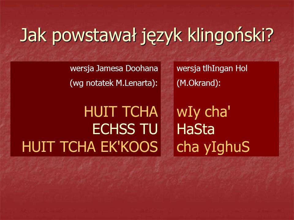Jak powstawał język klingoński