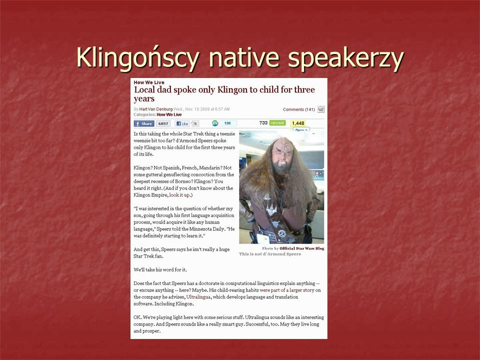 Klingońscy native speakerzy