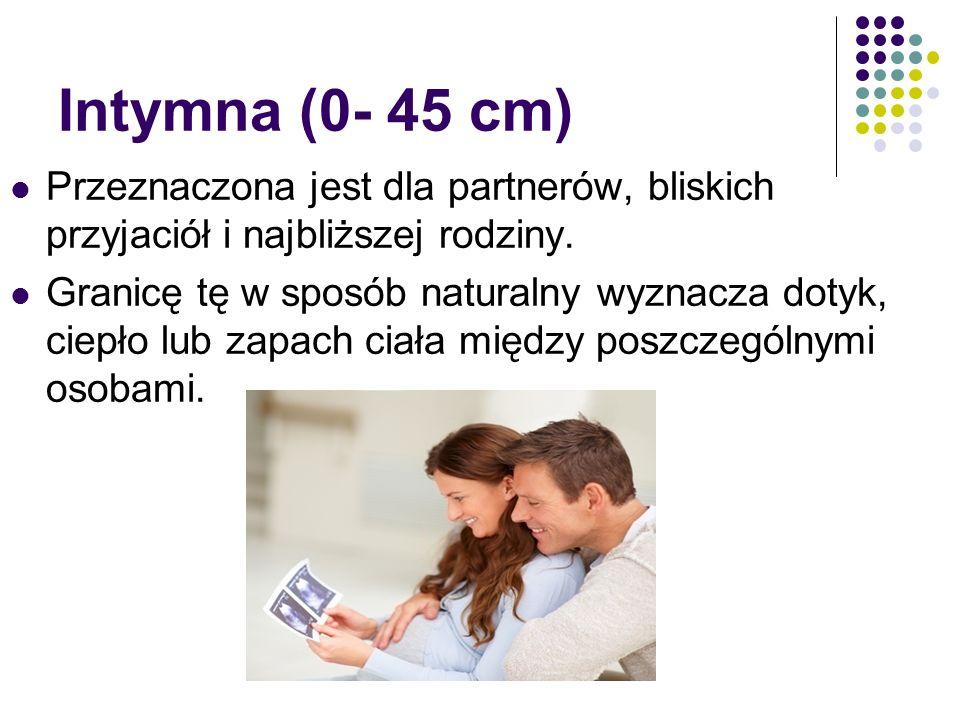 Intymna (0- 45 cm) Przeznaczona jest dla partnerów, bliskich przyjaciół i najbliższej rodziny.