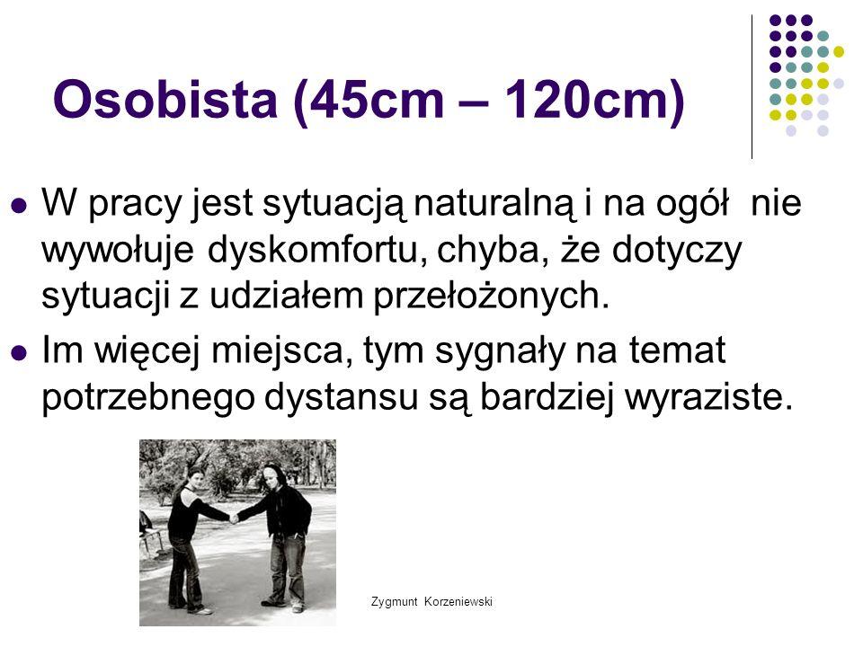 Osobista (45cm – 120cm) W pracy jest sytuacją naturalną i na ogół nie wywołuje dyskomfortu, chyba, że dotyczy sytuacji z udziałem przełożonych.