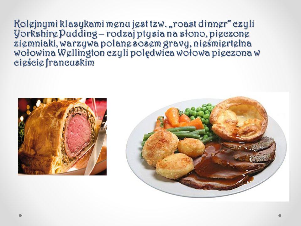 Kolejnymi klasykami menu jest tzw