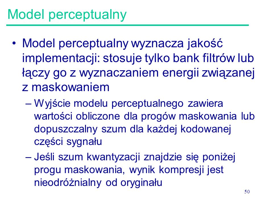 Model perceptualny