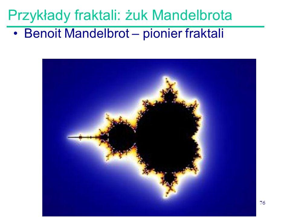 Przykłady fraktali: żuk Mandelbrota