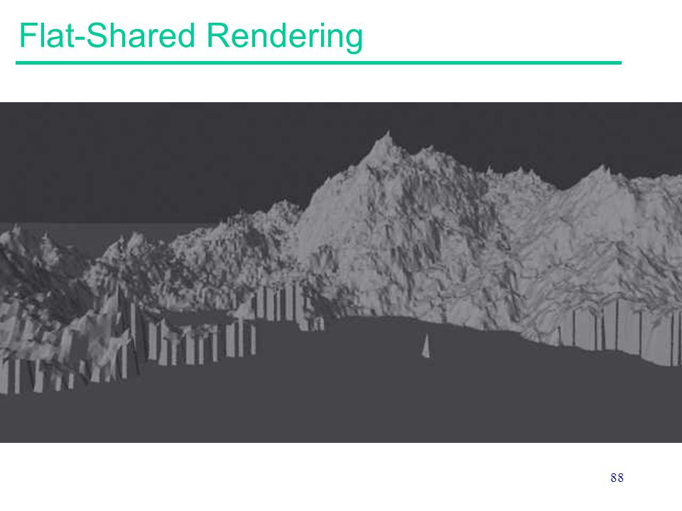 Flat-Shared Rendering