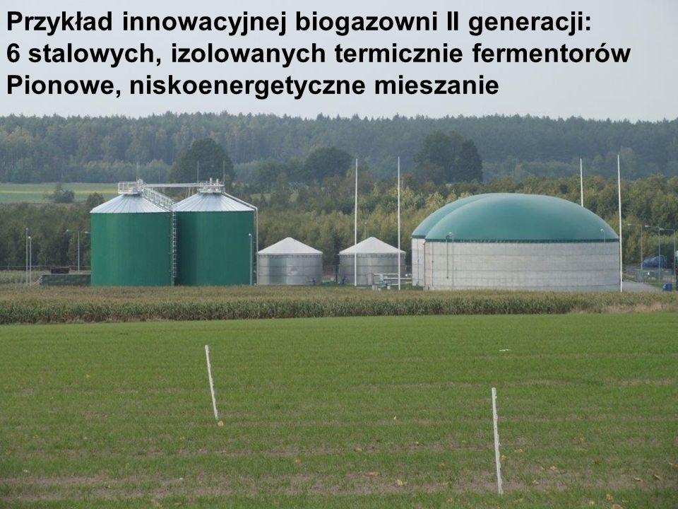 Przykład innowacyjnej biogazowni II generacji: