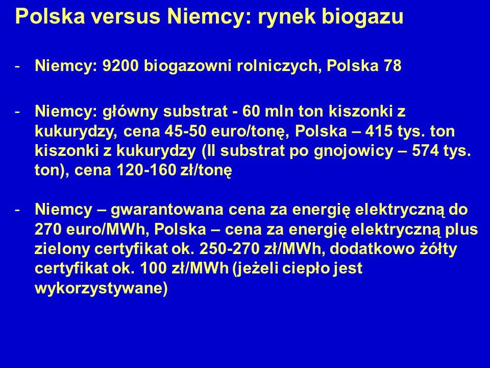 Polska versus Niemcy: rynek biogazu