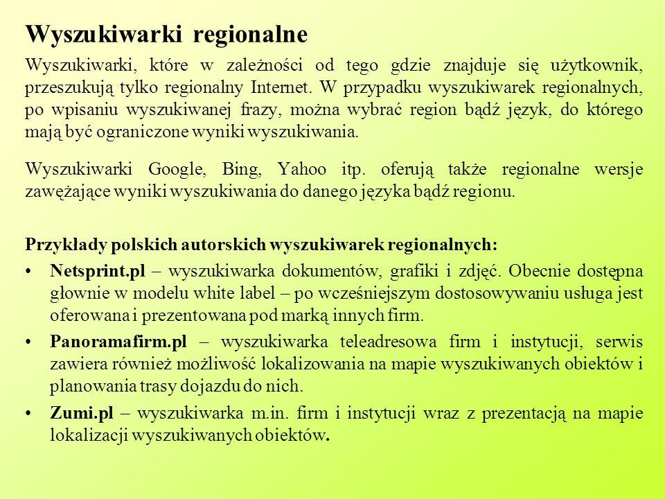 Wyszukiwarki regionalne