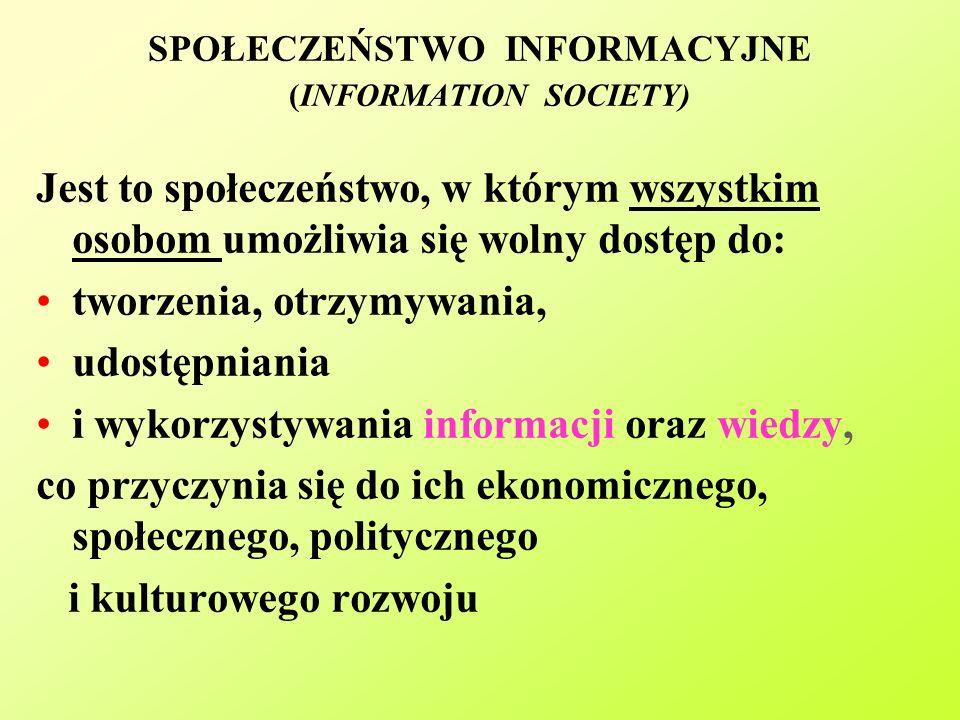SPOŁECZEŃSTWO INFORMACYJNE (INFORMATION SOCIETY)