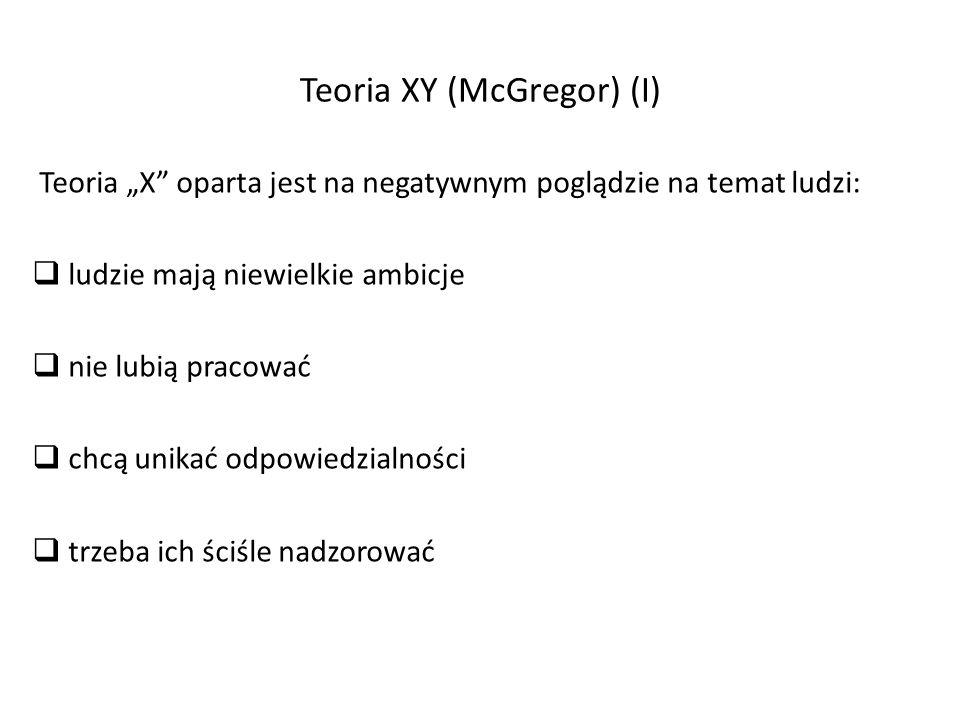 Teoria XY (McGregor) (I)