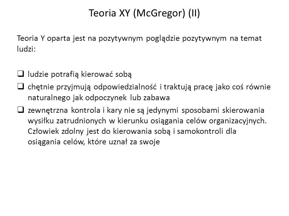 Teoria XY (McGregor) (II)