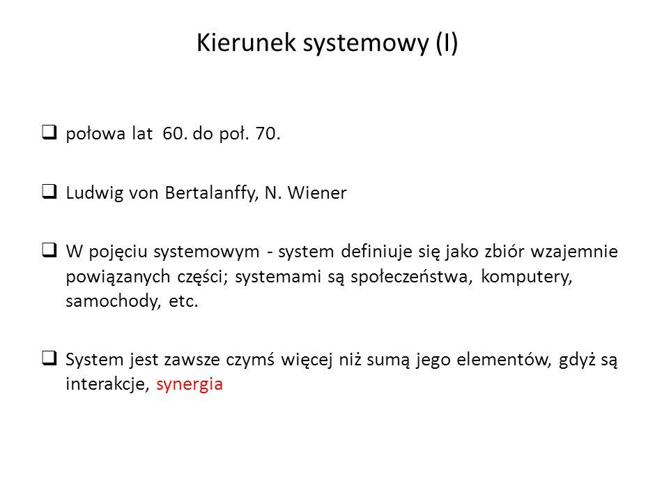 Kierunek systemowy (I)