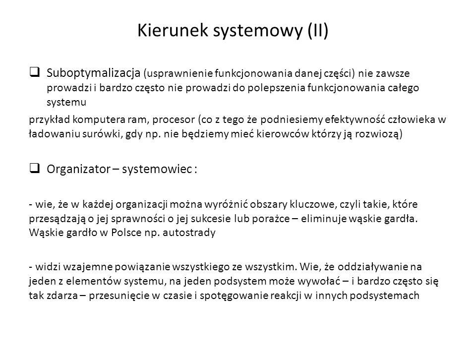 Kierunek systemowy (II)