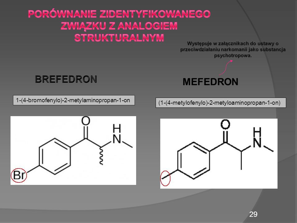 MEFEDRON 29 1-(4-bromofenylo)-2-metylaminopropan-1-on