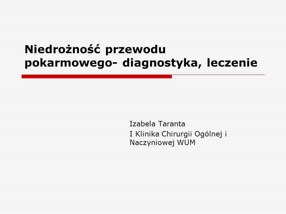 Niedrożność przewodu pokarmowego- diagnostyka, leczenie