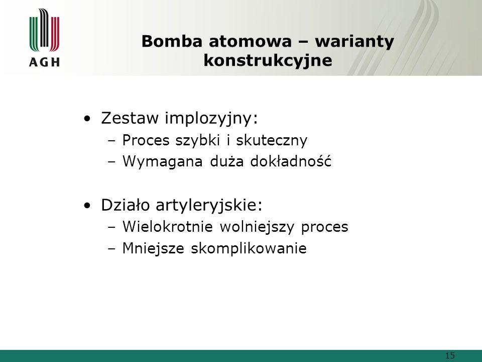Bomba atomowa – warianty konstrukcyjne