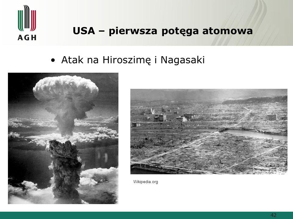 USA – pierwsza potęga atomowa