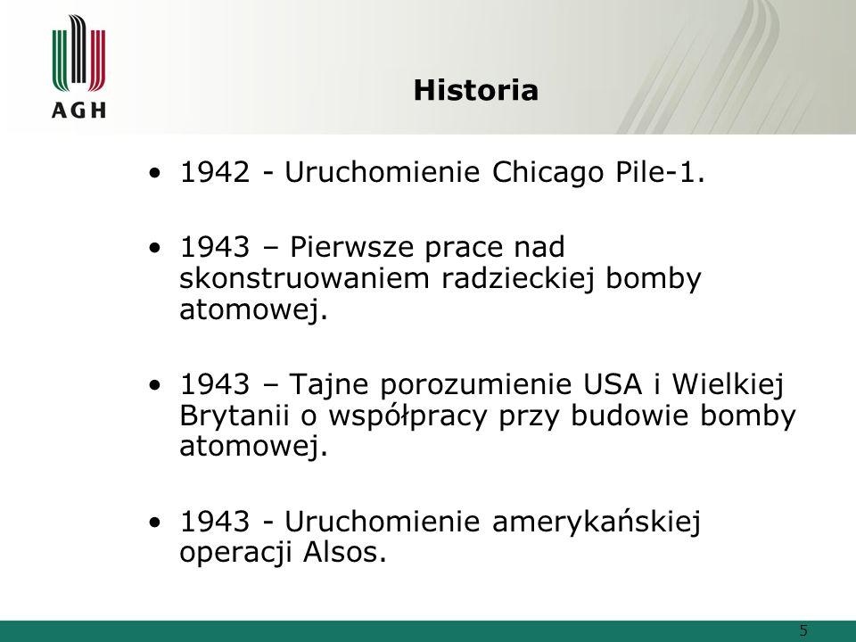 Historia 1942 - Uruchomienie Chicago Pile-1. 1943 – Pierwsze prace nad skonstruowaniem radzieckiej bomby atomowej.