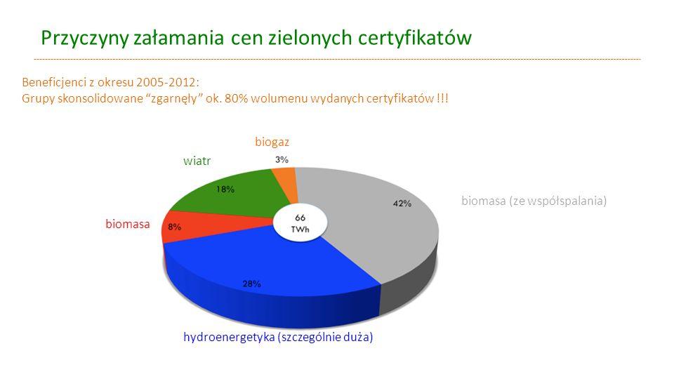 Przyczyny załamania cen zielonych certyfikatów