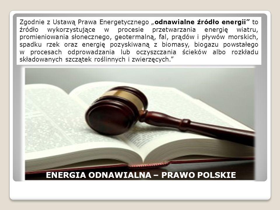 ENERGIA ODNAWIALNA – PRAWO POLSKIE