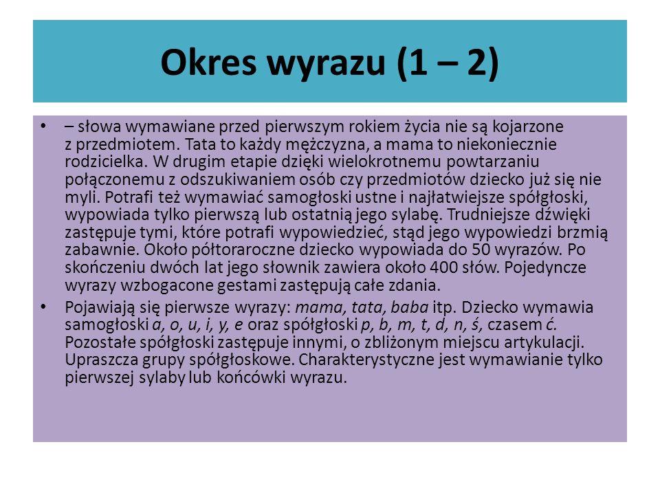 Okres wyrazu (1 – 2)