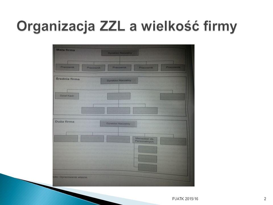 Organizacja ZZL a wielkość firmy